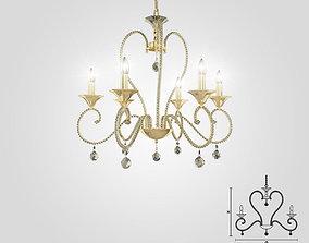 Masiero 4105-6 chandelier 3D