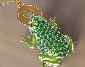 3D printable model Chinese Money Frog toad with coin 3