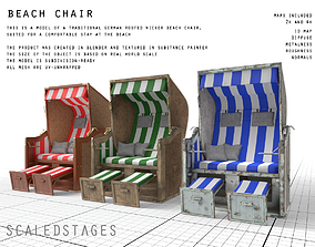 3D model sand Beach Chair