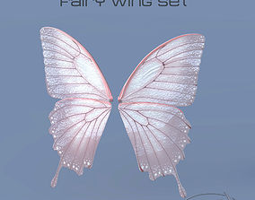 Fairy or Butterfly Wings Set B 3D model