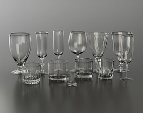 3D model Glassware Collection for Interior Renders