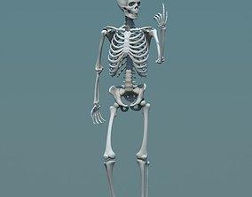 3d model human skeleton biped game-ready