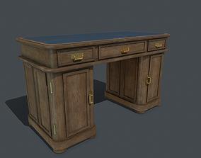 Old writing desk PBR 3D model