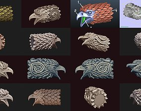Falcon heads collection 3D