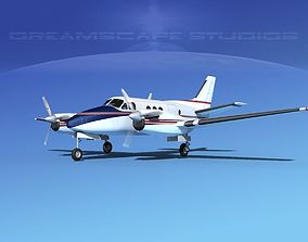 3D Beechcraft King Air C100 V10