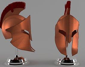 Spartan Helmet 3D PBR Model low-poly