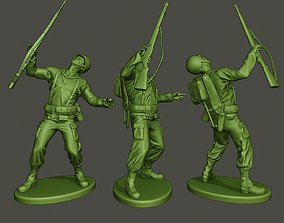 3D print model American soldier ww2 Shooted A1