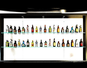 3D alcohol bottles collection