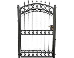 3D Wrought iron gate 07