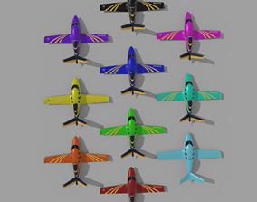 3D model realtime power rangers plane