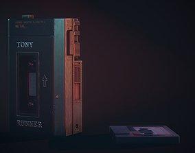 Vintage Old 1980s Cassette Player Walkman VR / AR ready