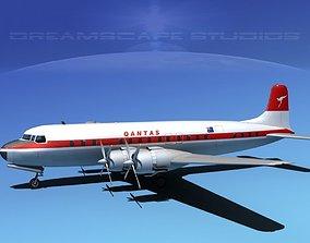 Douglas DC-7C Qantas 3D model
