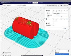 Cross dowel M4xD8x12 3D print model