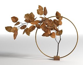 3D Natura Morta Circular Support in Brass