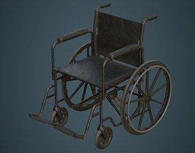3D asset Wheelchair 1B