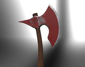 battleaxe battle axe 3D asset low-poly