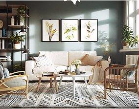 3D livingroom scandinavian