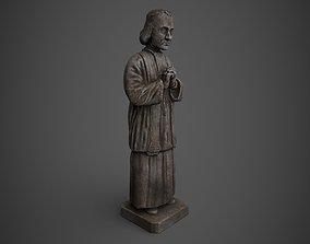 3D asset Saint Statue