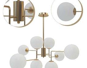 Suspended chandelier Maytoni Erich MOD221-PL-08-G 3D