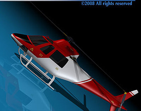 Firefighting helicopter 3D model