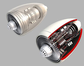 Turbine engine 02 3D model