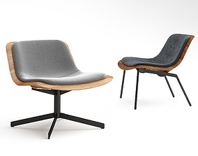 BluDot Nonesuch Leather Lounge Chair 3D model