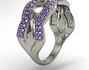 fashion right hand ring 3D print model