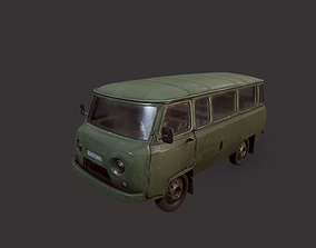 UAZ 452 Old Military 3D model