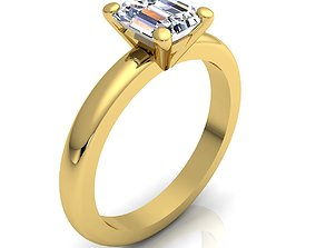 3D print model Solitaire Ring 43