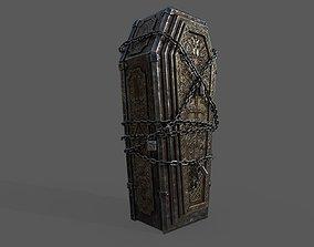 3D asset VR / AR ready Bloodborne Style Coffin