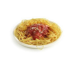 Meal Spaghetti With Red Sauce 3D