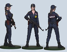 3D printable model hot cop girl