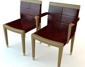 Chair and Armchair 3D asset