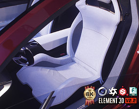 3D model PBR 4d Sport Car Seat