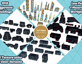 3D asset Sci Fi Space Colony Pack Modular 8k PBR 1512