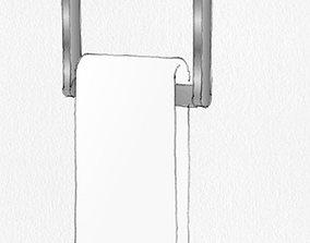 Restoration Hardware Lambeth Knurled Towel Ring 3D