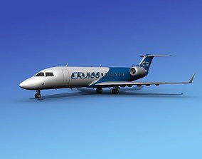 3D Canadair CRJ100 Bombardier