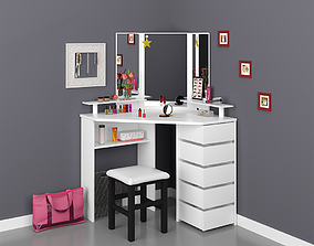3D model low-poly dressing table