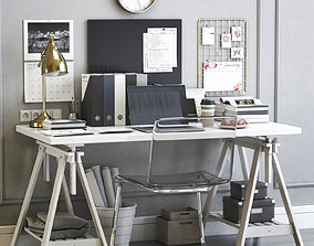 3D Ikea womens office workplace