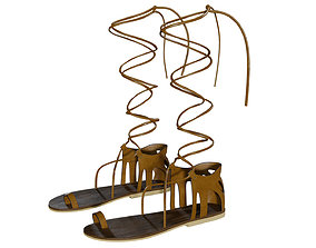 Gladiator sandals 3D