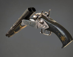 3D model realtime revolver wildwest