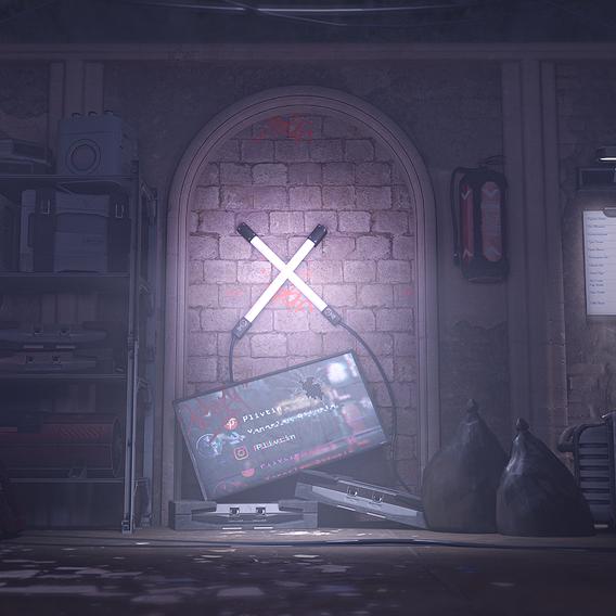 Neon wall - Treasury of cyberpunk hunter