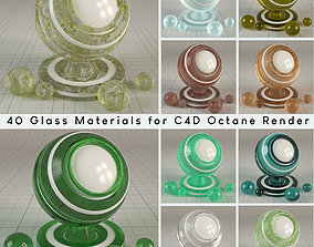 3D 40 tileable Glass Materials for Cinema4d Octane Render