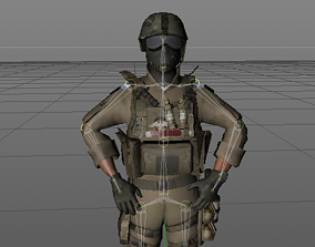 3D model COD SOLDIER WITH AMMUNNITION