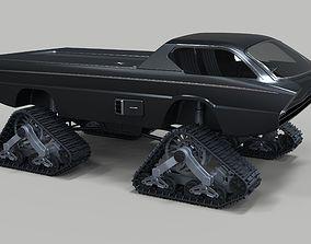 Dodge Deora with Mattracks Suspension tracks 3D