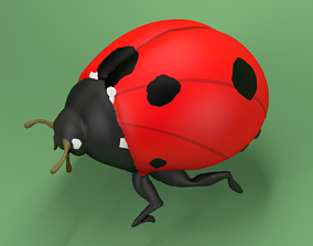 Ladybug Coccinellidae LOWPOLY 3D asset