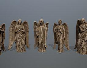 3D greek angel statue