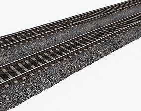 3D model VR / AR ready Railway Tracks