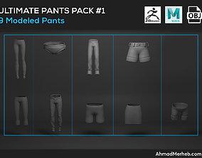 3D Ultimate Pants Pack 1 Models