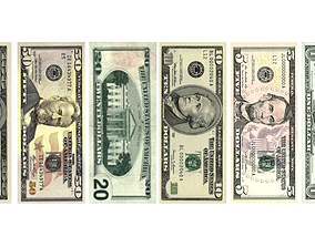3D asset Dollar Bills